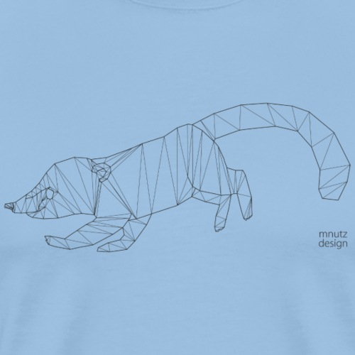 ORIGAMI Nasenbär - Männer Premium T-Shirt
