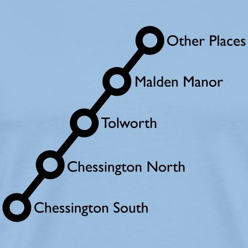 Chessington Branch Line - Colour Customisable - Men's Premium T-Shirt