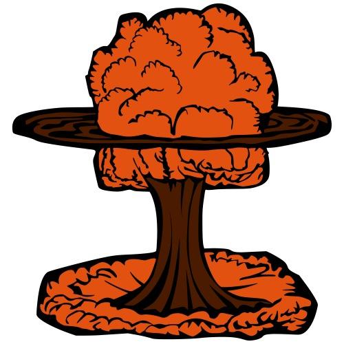 Nuclear Explosion Mushroom Cloud - Men's Premium T-Shirt