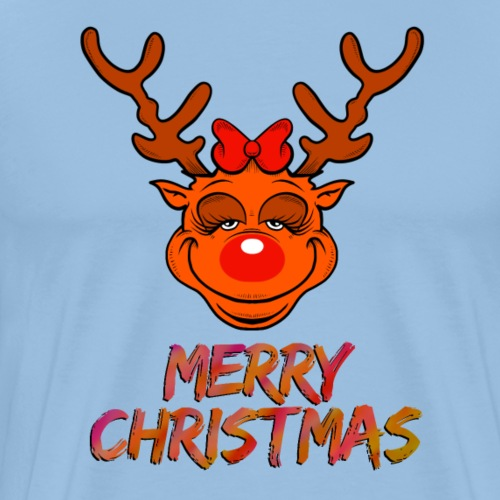 Rudolph weiblich - Männer Premium T-Shirt