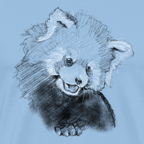 red panda sketch - Männer Premium T-Shirt