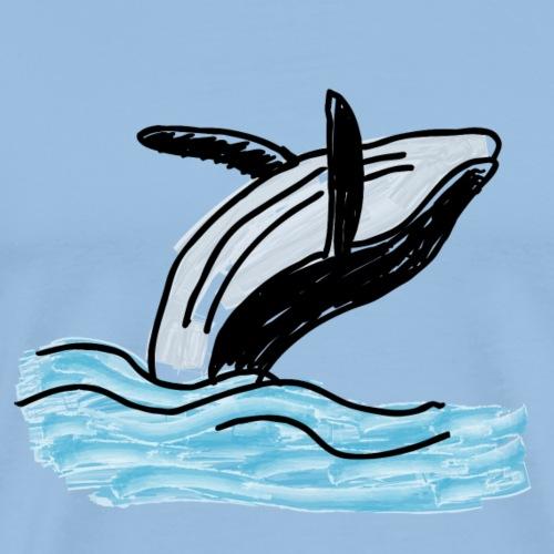 Wal - Whale - Ocean - Meer - Sea - Männer Premium T-Shirt