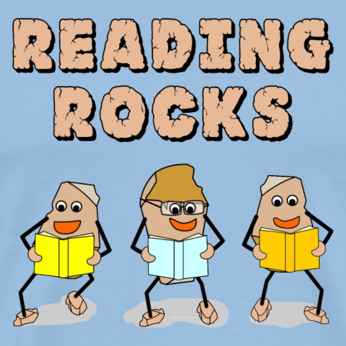 Reading Rocks - Men's Premium T-Shirt