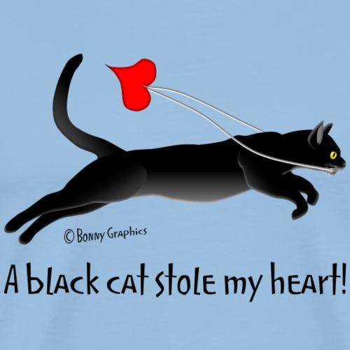 Black cat thief - Men's Premium T-Shirt