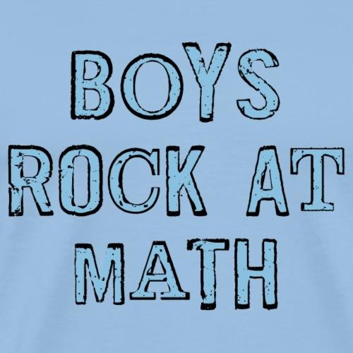 Boys Rock At Math - Men's Premium T-Shirt