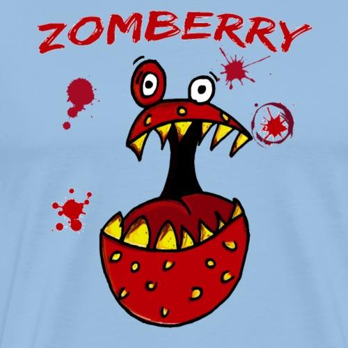 Zomberry Monster Blutspritzer Erdbeere Halloween - Männer Premium T-Shirt
