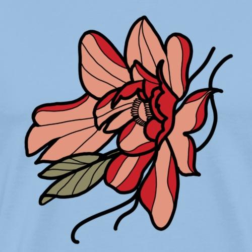 Flor Peona Sencila - Camiseta premium hombre