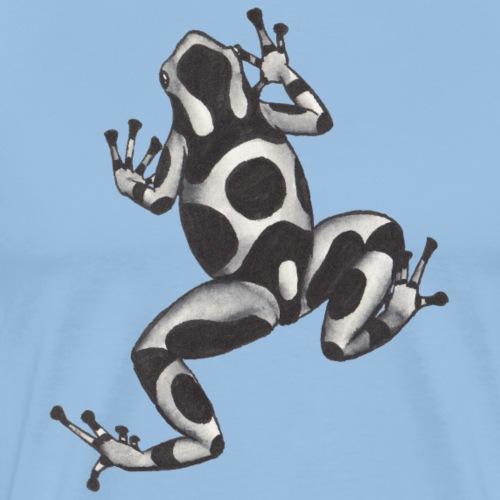 Svartvit groda - Premium-T-shirt herr