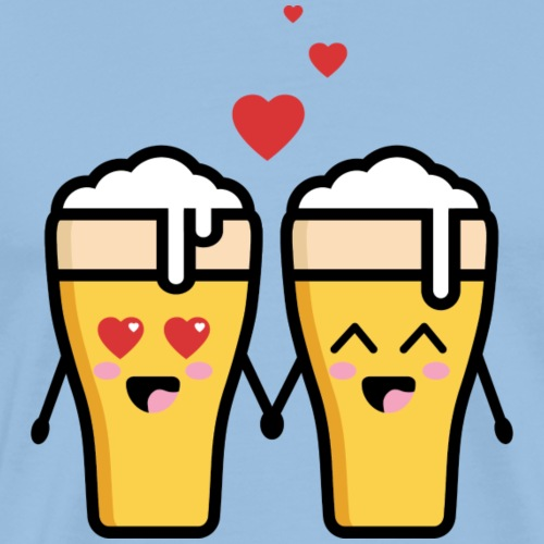 Beer love kawaii - T-shirt Premium Homme