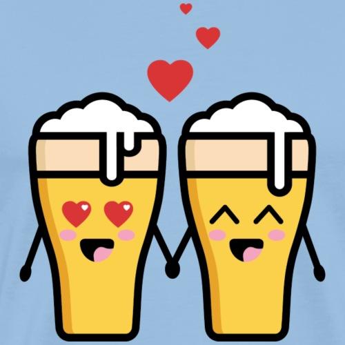 Beer love kawaii - T-shirt Premium Homme