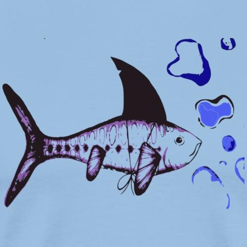 Hai-Fisch - Männer Premium T-Shirt