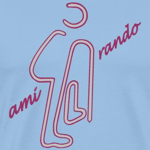 Amirando58 mauve mauve gris clair - T-shirt Premium Homme