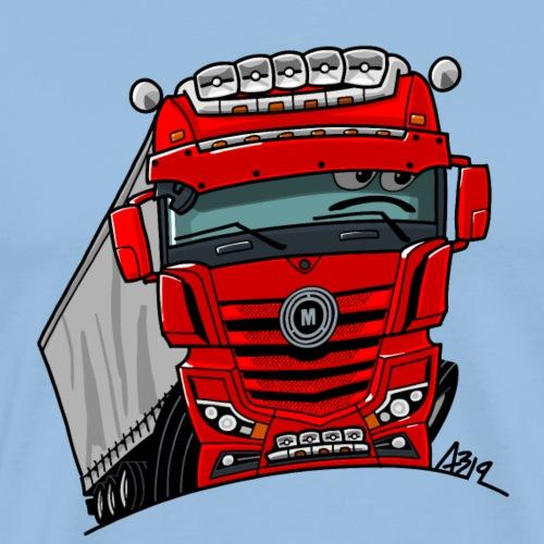 0807 M truck rood trailer - Mannen Premium T-shirt