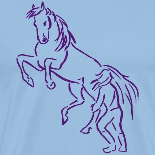 Steigendes Pferd Bodenarbeit Geschenk Liebe Stolz - Männer Premium T-Shirt