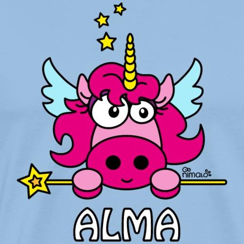 Unicorno con nome, Alma - T-shirt Premium Homme