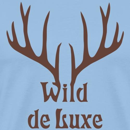 wild de luxe hirsch geweih jagd jäger jägerin - Männer Premium T-Shirt