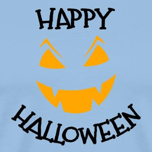 Happy Halloween pumpkin face - Men's Premium T-Shirt