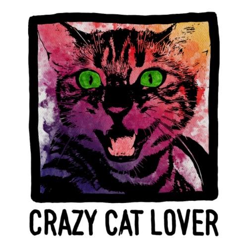 Katze Aquarell - Crazy Cat Lover - Männer Premium T-Shirt