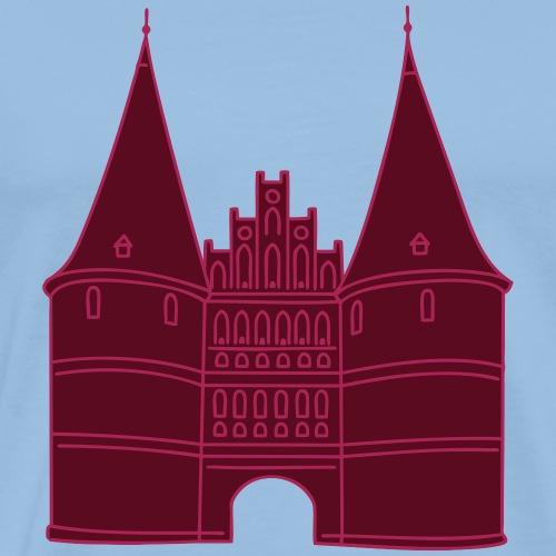 Holstentor Lübeck 2 - Maglietta Premium da uomo
