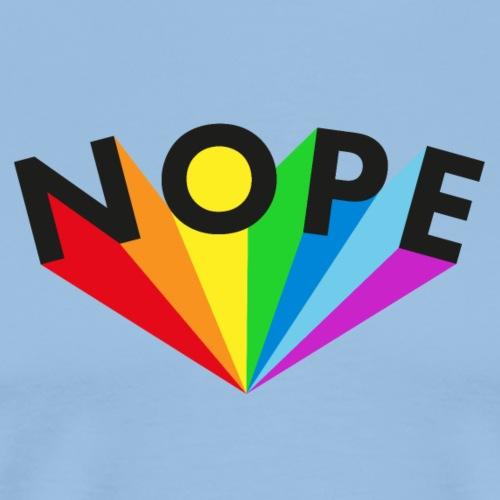 Nope Rainbow Black - Männer Premium T-Shirt