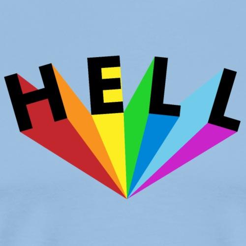 Hell Rainbow Black - Männer Premium T-Shirt