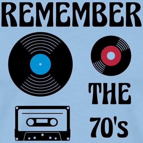 remember the 70s - Männer Premium T-Shirt