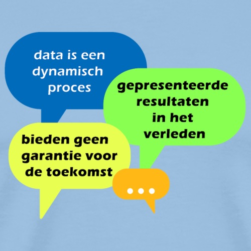 data is een dynamisch proces - Mannen Premium T-shirt