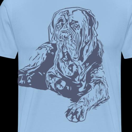 Hund Hundekollektion Dogge liegend Graublau