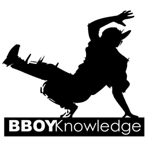 Bboy knowledge noir & blanc