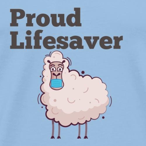 Schlafschafe retten Leben mit Mundschutz - Männer Premium T-Shirt