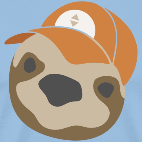 Sloth with a Hat - Mannen Premium T-shirt