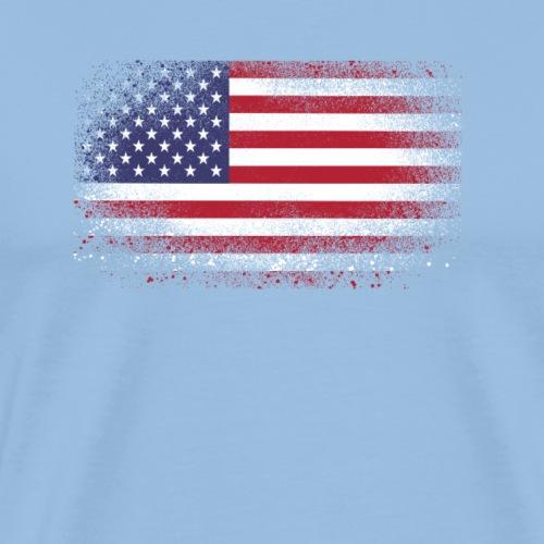 Cadeau drôle de drapeau américain grunge USA - T-shirt Premium Homme