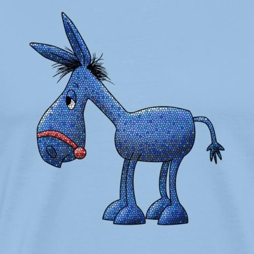 Blauer Esel für helle Stoffe - Männer Premium T-Shirt