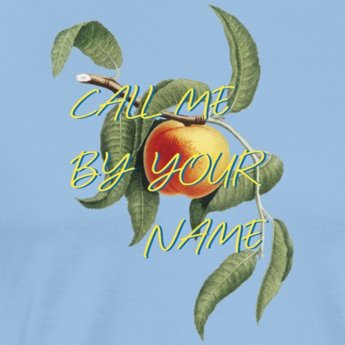 Call Me By Your Name | Film | Pfirsich - Men's Premium T-Shirt