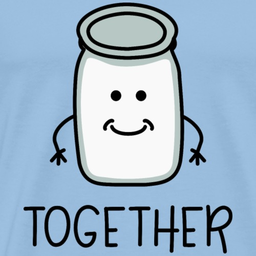 Better Together Partnerlook (Part2) Milch - Männer Premium T-Shirt