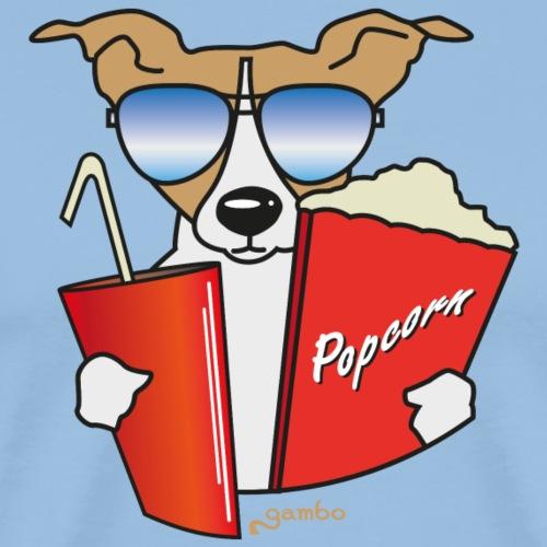 Hund im Kino - Männer Premium T-Shirt