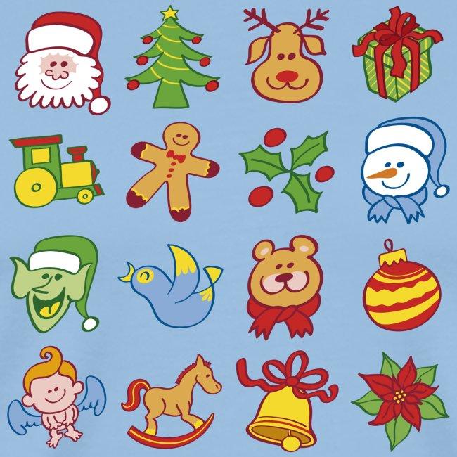 Traditional Christmas characters and symbols