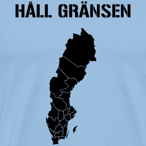 HÅLL GRÄNSEN - Premium-T-shirt herr