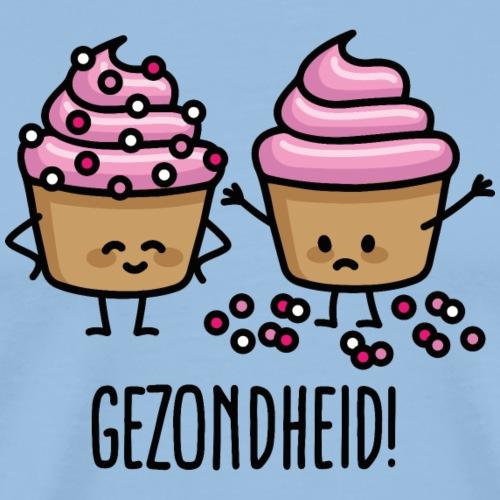 Gezondheid niezen cupcake cupcakes spikkels roze - Mannen Premium T-shirt