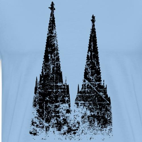 Kölner Dom aus Köln (Vintage/Schwarz) - Männer Premium T-Shirt