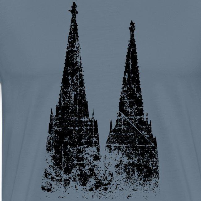 Kölner Dom aus Köln (Vintage/Schwarz)