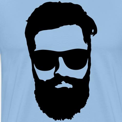 beard hipster - Männer Premium T-Shirt