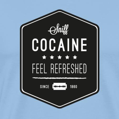 SNIFF COCAINE BLACK - Männer Premium T-Shirt