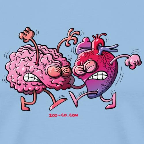 Heart vs Brain - Men's Premium T-Shirt