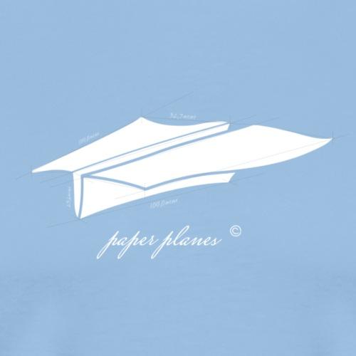 Paper Planes Blueprint - Mannen Premium T-shirt