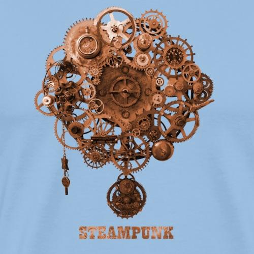 Steampunk Uhr Zahnrad Retro Futurismus - Männer Premium T-Shirt