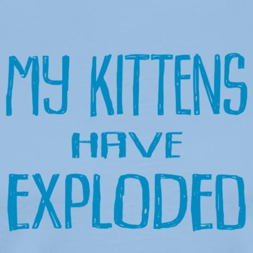 Kittens Blue - Premium-T-shirt herr