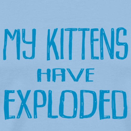 Kittens Blue - Premium-T-shirt herr