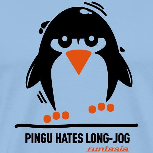 Pingu hates long jog 1 - Männer Premium T-Shirt