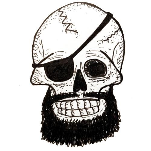 Bearded Skull - T-shirt Premium Homme